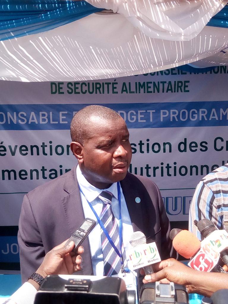 Dauda Sau représentant de la FAO au Burkina Faso a sollicité l'apport de tous pour changer les systèmes alimentaires