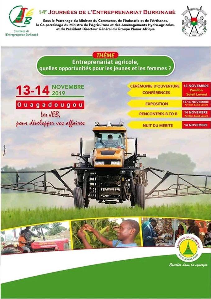 Journées de l'Entreprenariat Burkinabè : La 14è édition va s'intéresser aux agri-preneurs