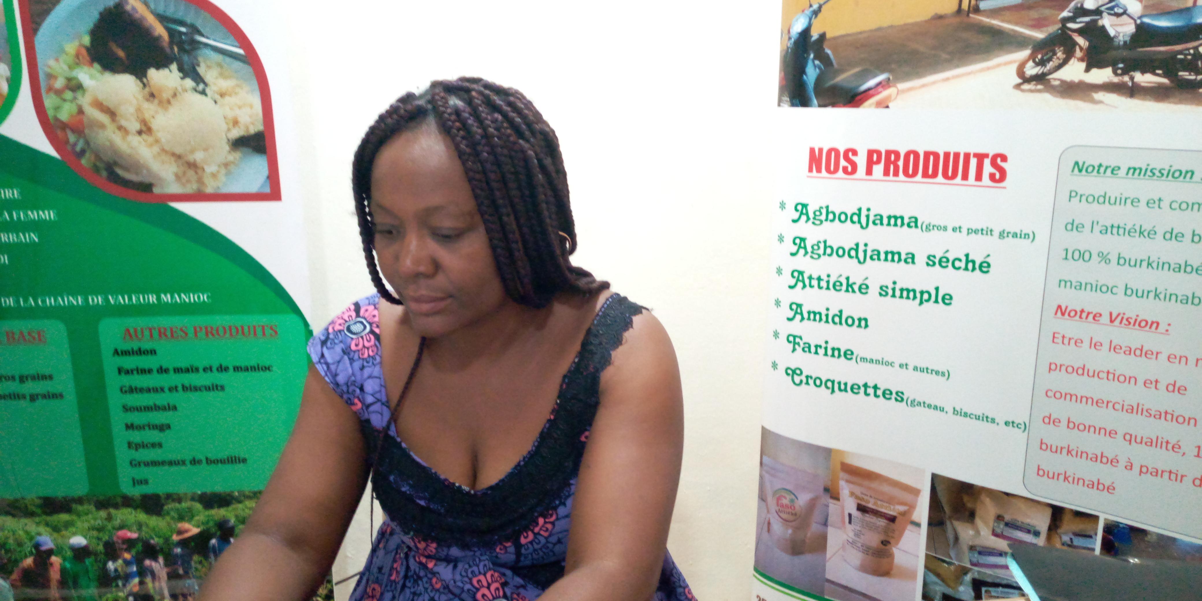 Windlasida Florence Kaboré, Responsable de Faso Attiéké : « Faso Attiéké n'a rien labellisé, mais a protégé le nom commercial auprès de l'OAPI en 2011 »