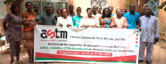 Ouagadougou: ASTM renforce les capacités d'une vingtaine d'acteurs de ses structures partenaires en GARD